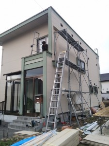 N様邸の工事進捗状況です。
