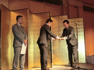 社内表彰式にて